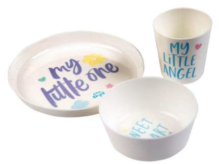 Набор детской посуды Little Angel Lettering 3 предмета