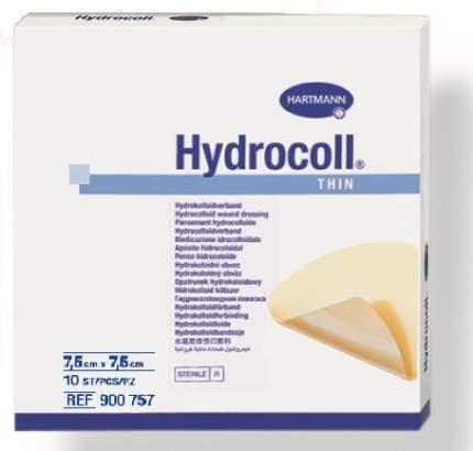 Самофиксирующиеся гидроколлоидные повязки HARTMANN Hydrocoll thin 7,5 см х 7,5 см 10 шт.