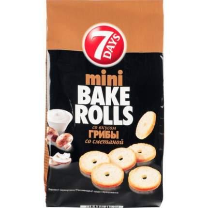 Сухарики 7 Days мини Bake rolls с приправой сметана грибы 10*80 г