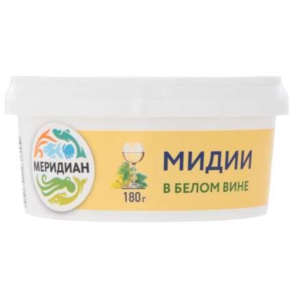Мидии меридиан в белом вине 180 г пл/б меридиан россия