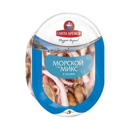 Коктейль из морепродуктов санта бремор морской микс в заливке 180 г
