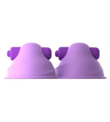 Фиолетовые виброприсоски-стимуляторы на соски Vibrating Nipple Pipedream