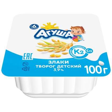 Творог агуша с 6 мес злаки жир. 3.9 % 100 г пл/ст вбд россия