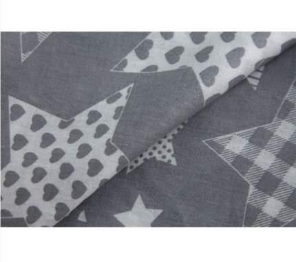 Наволочка для подушки Roxy Kids 35х165см, цв. серый со звездами