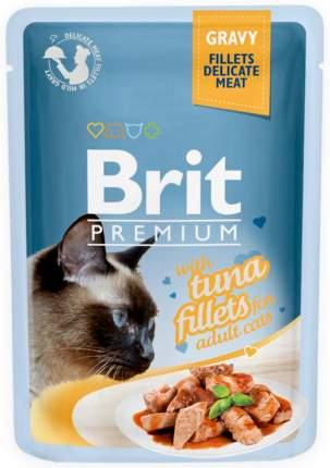 Влажный корм для кошек Brit Premium Gravy Tuna Fillets, филе тунца в соусе, 24шт по 85г