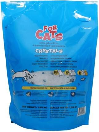 Впитывающий наполнитель для кошек For Cats силикагелевый, 1.59 кг, 4 л