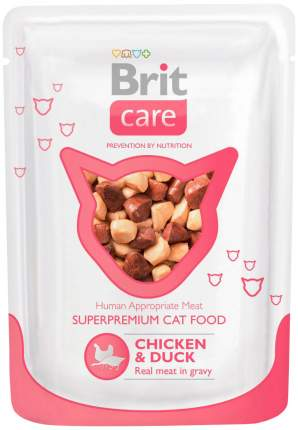 Влажный корм для кошек Brit Care Chicken & Duck, с курицей и уткой, 24шт по 80г