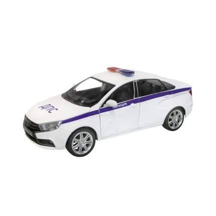 Машинка металлическая Автопанорама LADA VESTA Полиция седан, масштаб 1:24