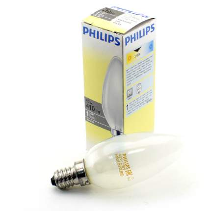 Лампа накаливания E14 B35 40W матовая PHILIPS