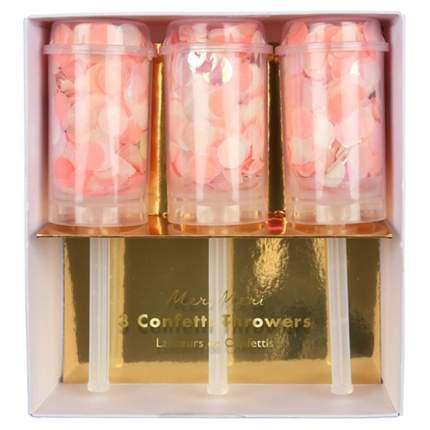 Хлопушки с конфетти Meri Meri 170038 розовый 3 шт.