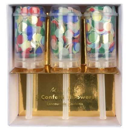 Хлопушки с конфетти Meri Meri 170029 разноцветный 3 шт.