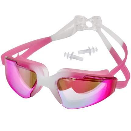 C33452-2 Очки для плавания взрослые с берушами (розовые)