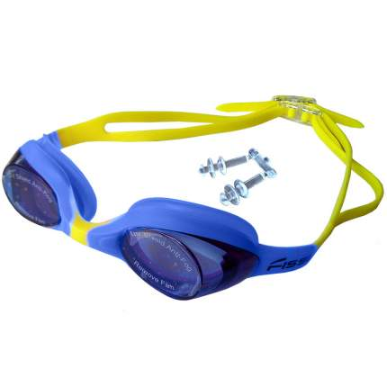R18165 Очки для плавания (желто-синие)