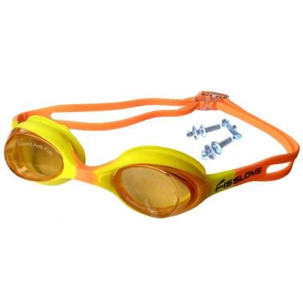 R18165 Очки для плавания (желто-розовые)