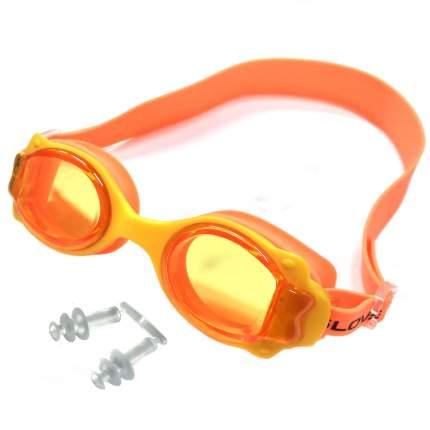 R18164-3 Очки для плавания (желто-оранжевые)