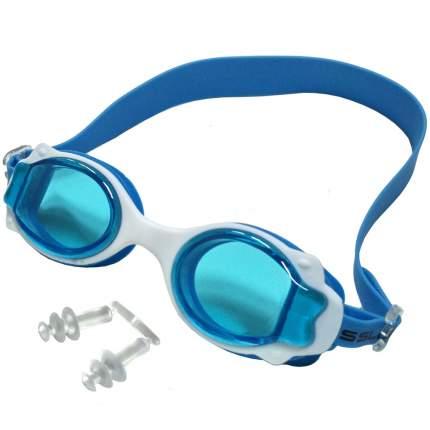 R18164-1 Очки для плавания (голубой-белый)
