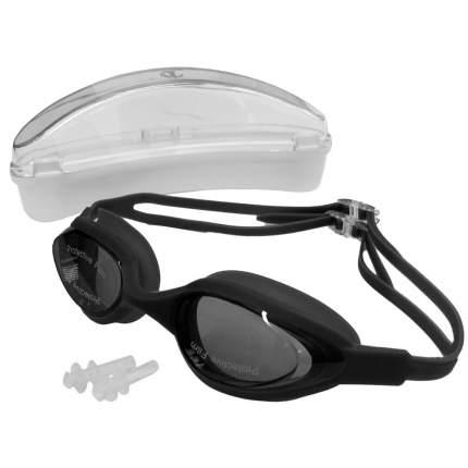 H10180-5 Очки для плавания силиконовые (черный)