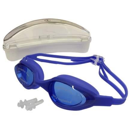H10180-4 Очки для плавания силиконовые (синий)