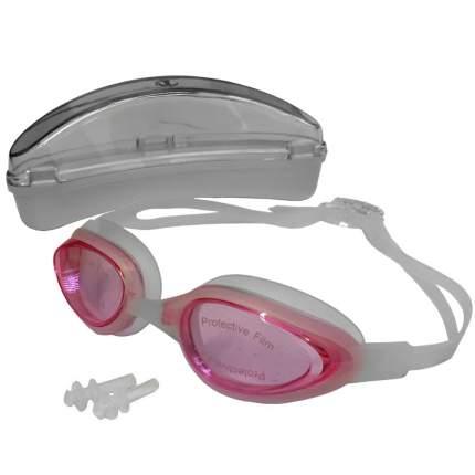 H10180-2 Очки для плавания силиконовые (розовый)