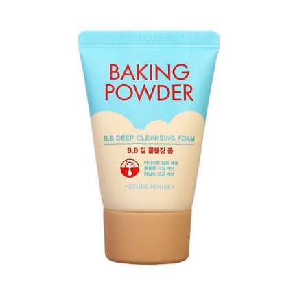 Пенка для глубокого очищения кожи Baking Powder BB Deep Cleansing Foam, Etude House 30 ml