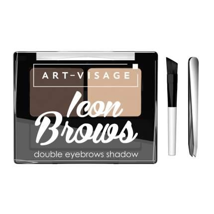 """Двойные тени для бровей """"ICON BROWS"""" ART-VISAGE 423"""