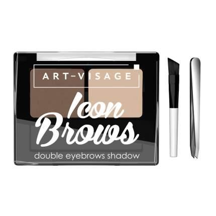 """Двойные тени для бровей """"ICON BROWS"""" ART-VISAGE 422"""
