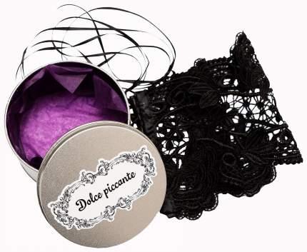 Кружевные черные манжеты Desiderio Dolce Piccante Lingerie