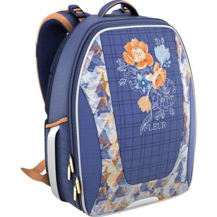 Рюкзак школьный La'Fleur Erich Krause для девочек Синий 39359