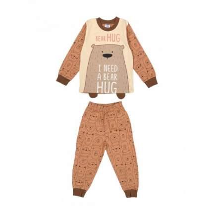 Пижама для мальчиков Bonito kids, цв. коричневый, р.122