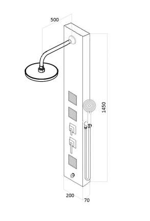 Душевая панель со смесителем для ванны AVA AV9331SS