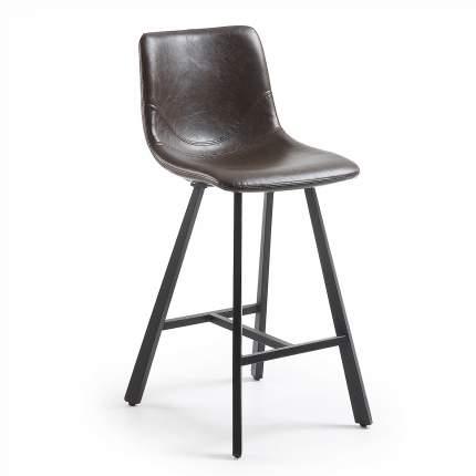 Полубарный стул La Forma Trac 52534, черный/темно-коричневый