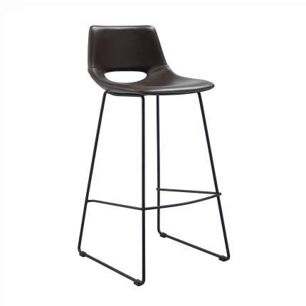 Полубарный стул La Forma Ziggy 58264, черный/темно-коричневый