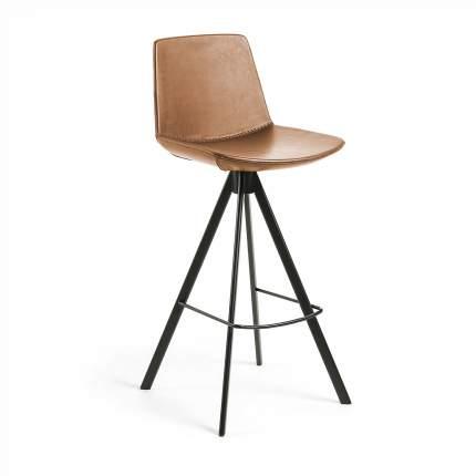 Полубарный стул La Forma Zast 58256, черный/коричневый