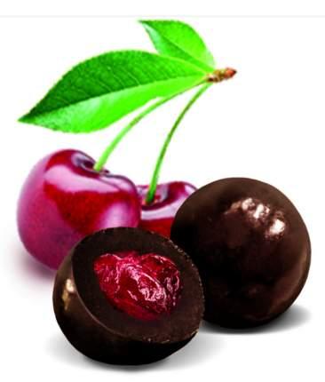 Конфеты вишня в шоколадной глазури Русские узоры матрешка 230 г