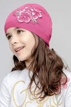 Шапка для девочки Gulliver, цв.розовый, р-р 52