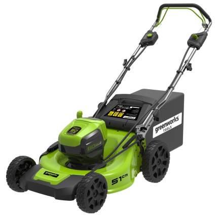 Самоходная аккумуляторная газонокосилка GreenWorks GD60LM51SPK4 60V (арт. 2505607UB)