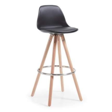 Полубарный стул La Forma Stag 36137, бук натуральный/хром/черный