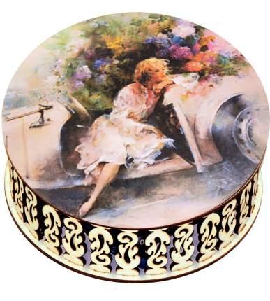 Конфеты Кремлина чернослив шоколадный Ретро автомобиль шкатулка круглая 400 г
