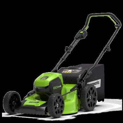 Газонокосилка аккумуляторная Greenworks GD60LM46HPK4, 60V, 46 см, с 1хАКБ 4 А.ч. и ЗУ