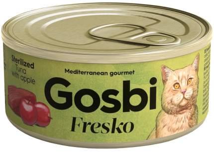 Консервы для кошек Gosbi Fresko Sterilized, для стерилизованных, тунец яблоко, 32шт по 70г