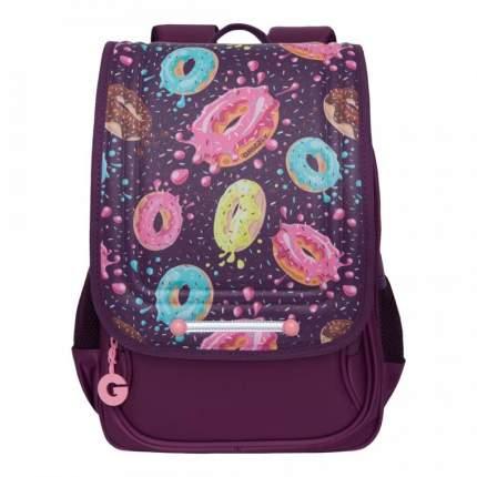 Школьный ранец Grizzly для девочки, фиолетовый