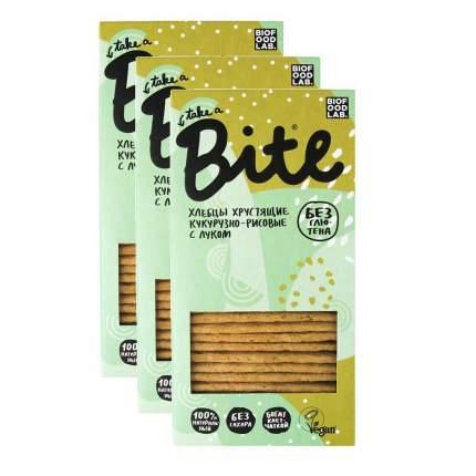 Хлебцы Bite хрустящие кукурузно-рисовые с луком 3 пачки 150 г
