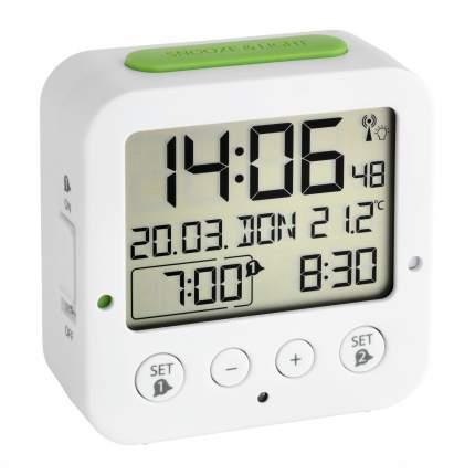 Цифровой радиоуправляемый Будильник TFA 60.2528.01, белый