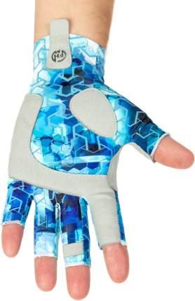 Перчатки FHM Mark, принт голубой, XL
