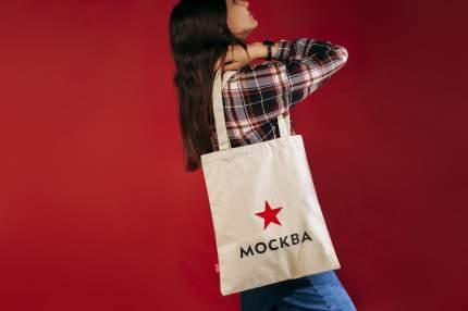 Сумка с логотипом Москвы женская Студия Артемия Лебедева V008733 бежевая