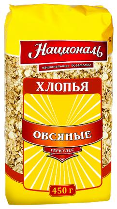 Хлопья Националь овсяные геркулес 450 г