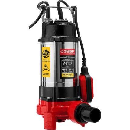Фекальный насос ЗУБР НПФ-1100-Р 1100 Вт, 245 л/мин