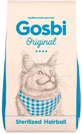 Сухой корм для кошек Gosbi Original Sterilized Hairball, для вывода шерсти, курица, 7кг