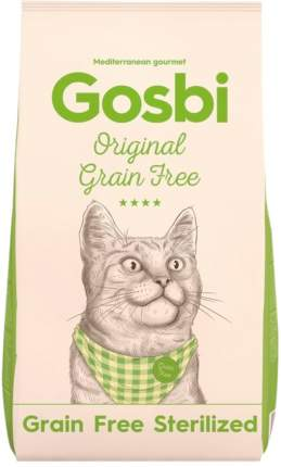 Сухой корм для кошек Gosbi Original Sterilized Grain Free, беззерновой, курица, 7кг