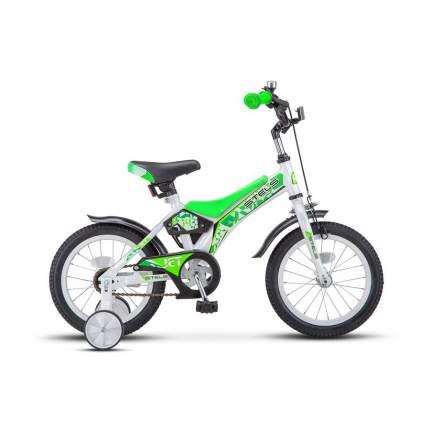 """Велосипед Stels 14"""" Jet Z010 2020 11"""" белый/салатовый"""